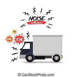 noise pollution design - noise pollution design, vector...