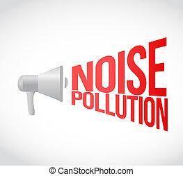noise pollution megaphone message at loud. concept