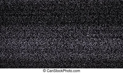 noise tv background. lifestyle Television screen with static...