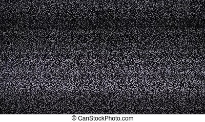 noise tv background. Television screen lifestyle with static...
