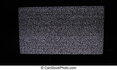 noise tv background. Television screen with static noise...