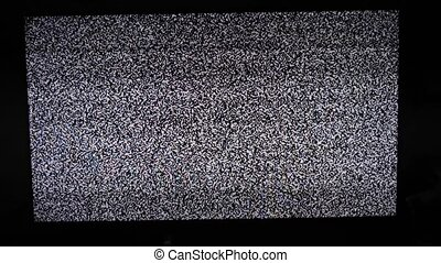 noise tv lifestyle background. Television screen with static...