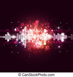 Noisy Music Background - noisy bright music multicolor...