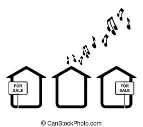 Noisy neighbours - Monochrome concept of noisy neighbours...
