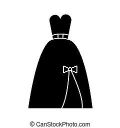 noite, ilustração, isolado, sinal, vetorial, fundo, ícone, vestido, nupcial