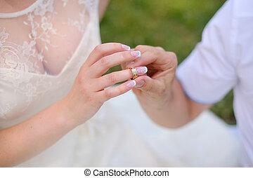 noiva, anel, noivo, desgastes