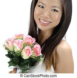 noiva, asiático