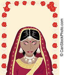 noiva, indianas