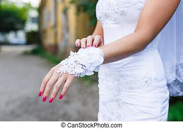 noiva, luvas brancas, vestidos