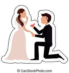 noiva, proposta, noivo, casório
