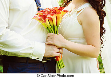 noivo, dia, noiva, casório