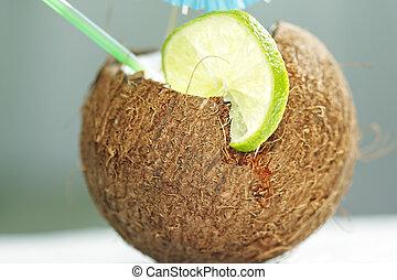 noix coco, cocktail