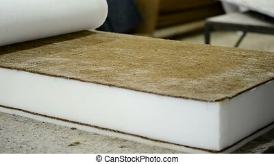 noix coco, fabrication, ouvrier, plante, couche, usine, ...