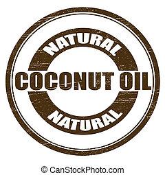noix coco, huile, naturel