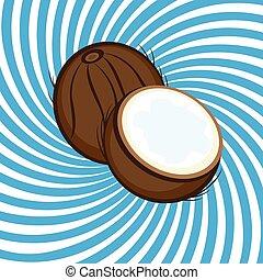 noix coco, mûre
