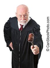 Nol Nonsense Skeptical Judge - No nonsense, skeptical old...