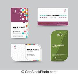 nom, business, set., illustration, contact, vecteur, conception, template., carte