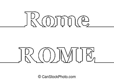 nom, italy., capital, rom., ligne, contour