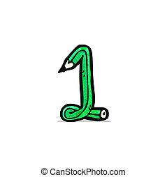 nombre, dessin animé, une