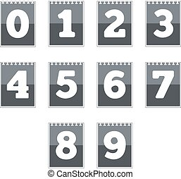 nombre, icônes