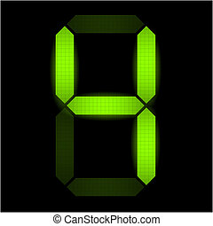 nombre, numérique, quatre