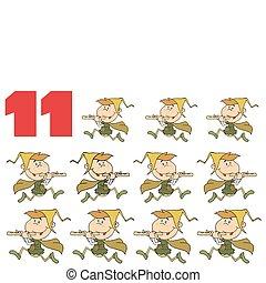 nombre, rouges, 11