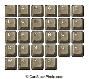 nombre, symboles, clef informatique, clavier, lettre