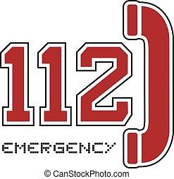 nombre, urgence, 112