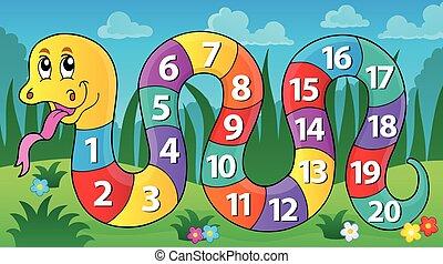 nombres, image, 2, thème, serpent