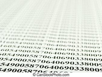 nombres, papiers