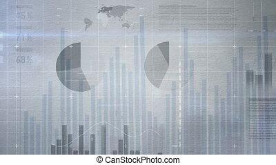 nombreux, graphiques, interface, business, diagrammes