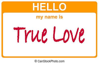 nome, amor verdadeiro
