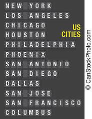 nome, di, ci, città, su, aeroporto, buffetto, asse