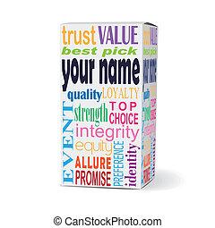 nome, seu, produto, caixa, palavras