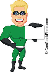 nome, superhero, cartone animato, scheda, presa a terra