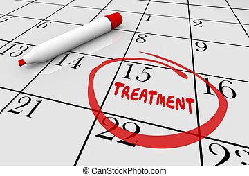 nomeação, ilustração médica, saúde, tratamento, calendário, cuidado, 3d