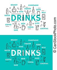 Non alcohol beverage and alcohol drinks
