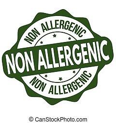 Non allergenic label or sticker on white background, vector illustration