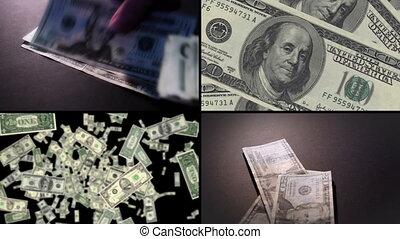 non, argent, métrage, cg, mélangé, boucle