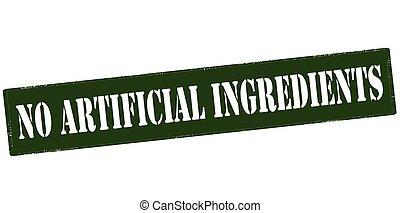 non, artificiel, ingrédients