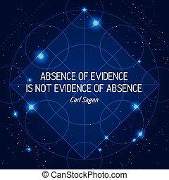 non, assenza, prova