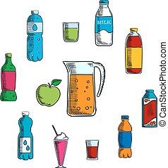non bebida alcohólica, y, bebidas