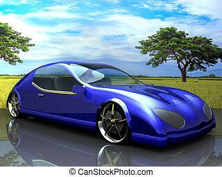 Non-branded generic concept car for adv or others purpose ...