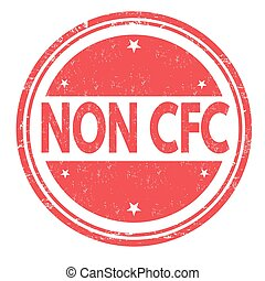 Non CFC product stamp - Non CFC product grunge rubber stamp...