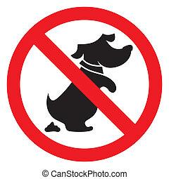 non, chien, signe