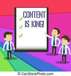 non, conceito, king., negócio, texto, busca, visibilidade, escrita, conteúdo, crescendo, focalizado, pago, marketing, results., palavra