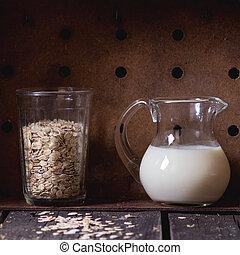 Non-dairy oat milk