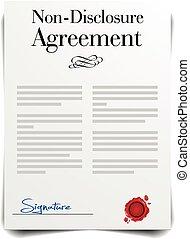 non-disclosure, överenskommelse