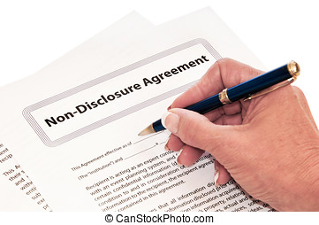 Non Disclosure Agreement Isolated on White - Confidentiality...