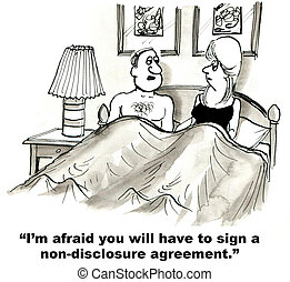 """Non-Disclosure Agreement - """"I'm afraid you will have to sign..."""